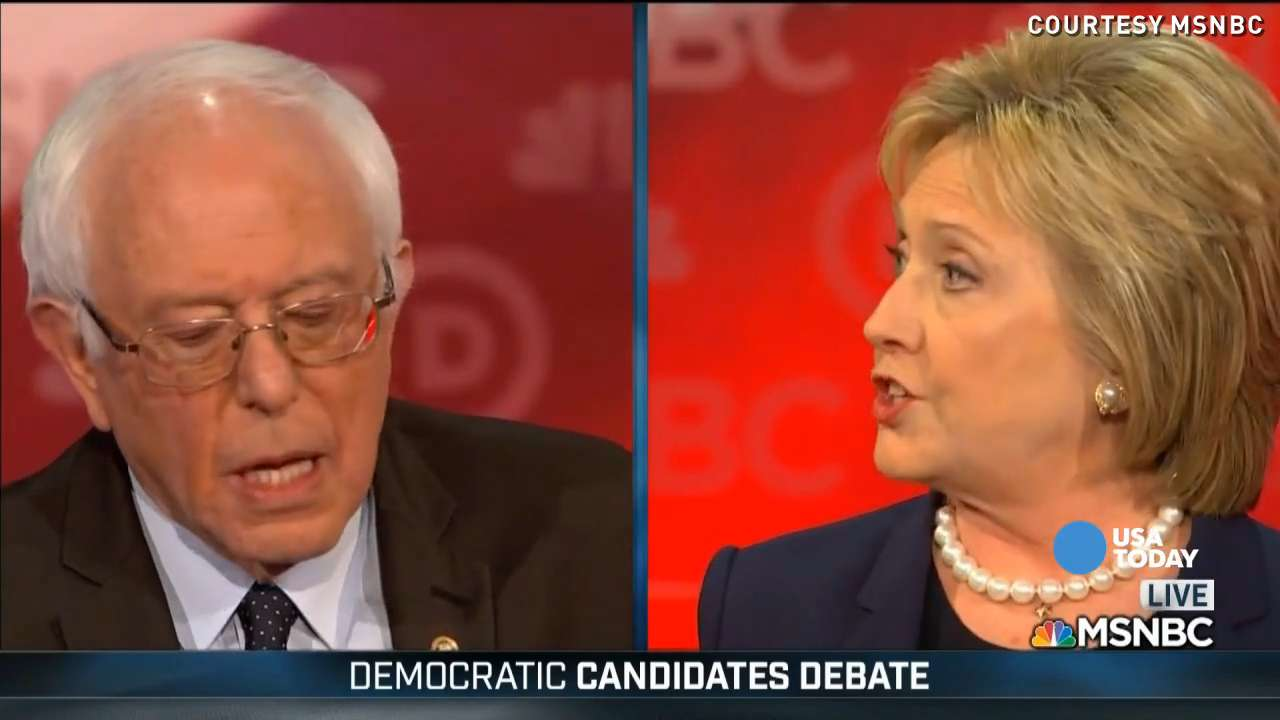 For the first time, presidential candidates Hillary Clinton and Bernie Sanders faced off with just each other during a Democratic debate.