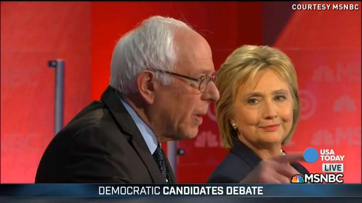 Despite heated moments between Democratic presidential candidates Hillary Clinton and Bernie Sanders, they did agree and even shake hands on a few things during the 5th Democratic debate.