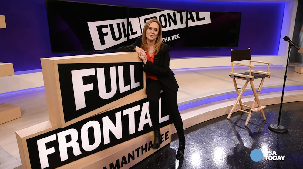 Samantha Bee, star of Full Frontal on TBS, talks about her former Daily Show co-stars John Stewart, Stephen Colbert and John Oliver.