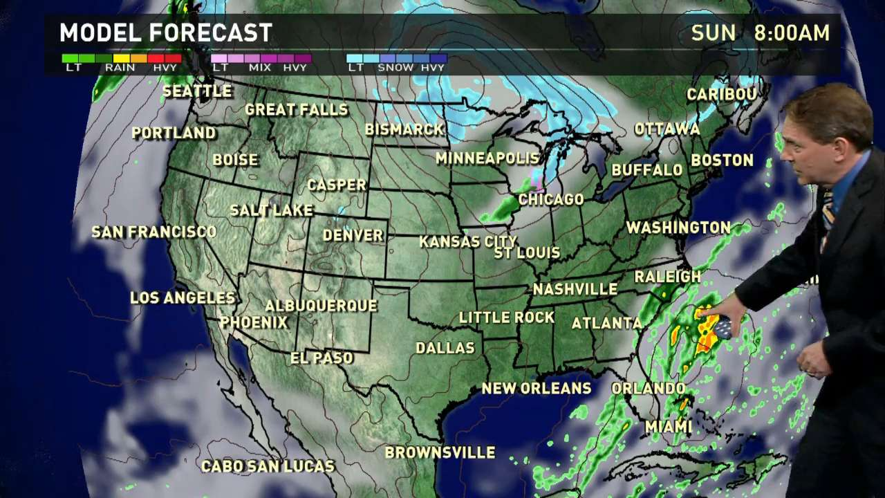 Saturday's forecast: damp along Southeast coast