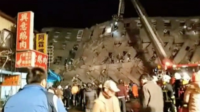Magnitude 6.4 earthquake hits Taiwan, collapses buildings