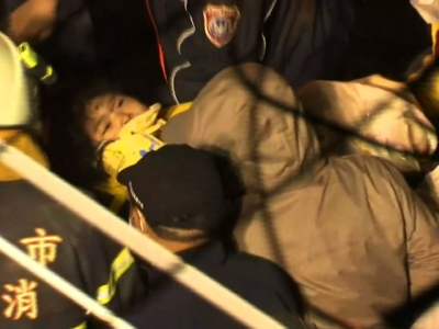 Rescuers were searching late Saturday for more than 100 people still missing after a powerful, shallow earthquake struck southern Taiwan before dawn, causing a high-rise residential building to collapse and killing at least 14 people. (Feb. 6)