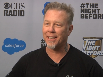 While Metallica has steadily attracted more of a mainstream audience throughout its 35-year career, frontman James Hetfield feels they will never play the Super Bowl, and he doesn't seem to mind. (Feb. 6)