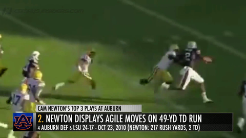 NFL MVP Cam Newton's Top 3 Plays At Auburn