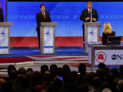 There have been no higher stakes on a Republican debate stage in the 2016 campaign for president than there were Saturday night. (Feb. 7)