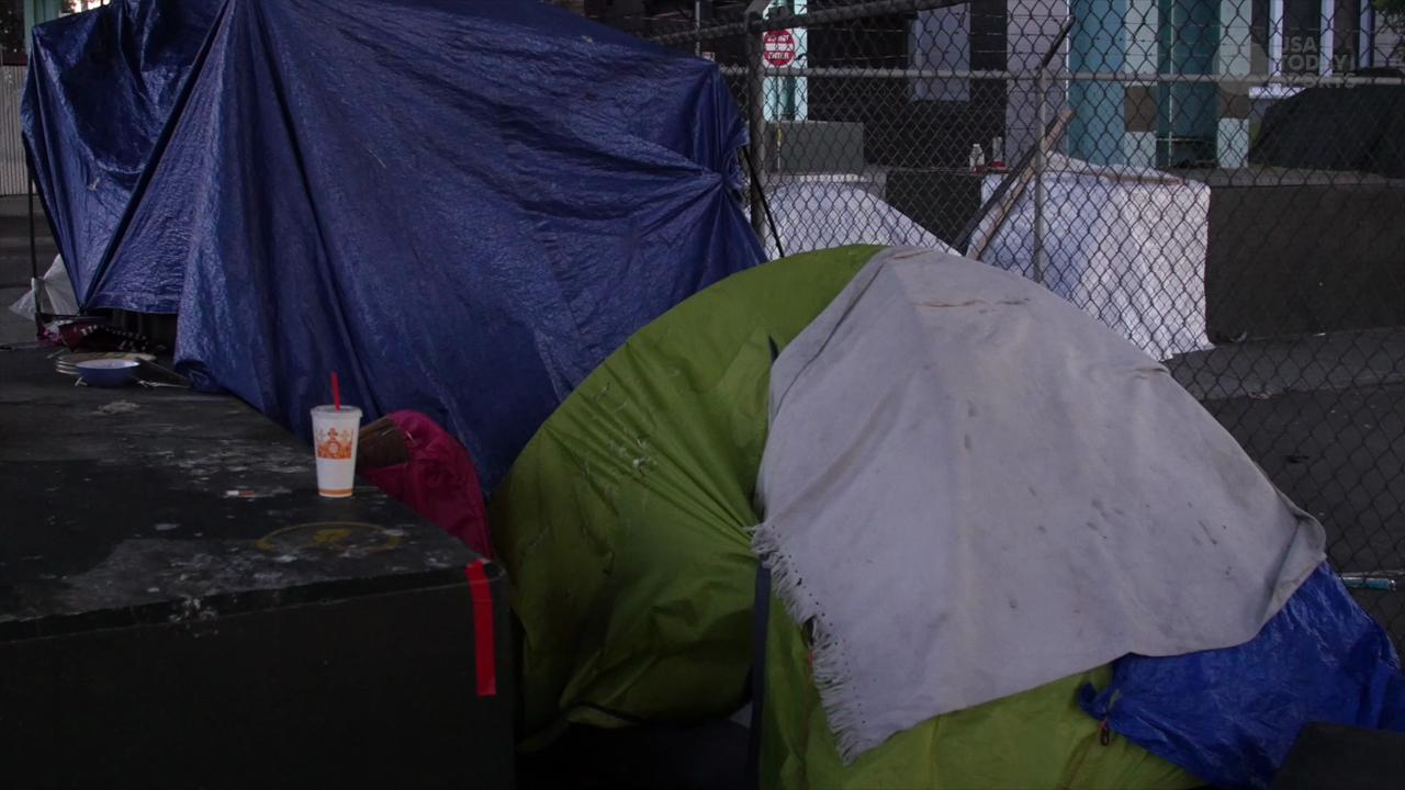 Hear from some of city's homeless community about the hardships they have faced during Super Bowl 50.