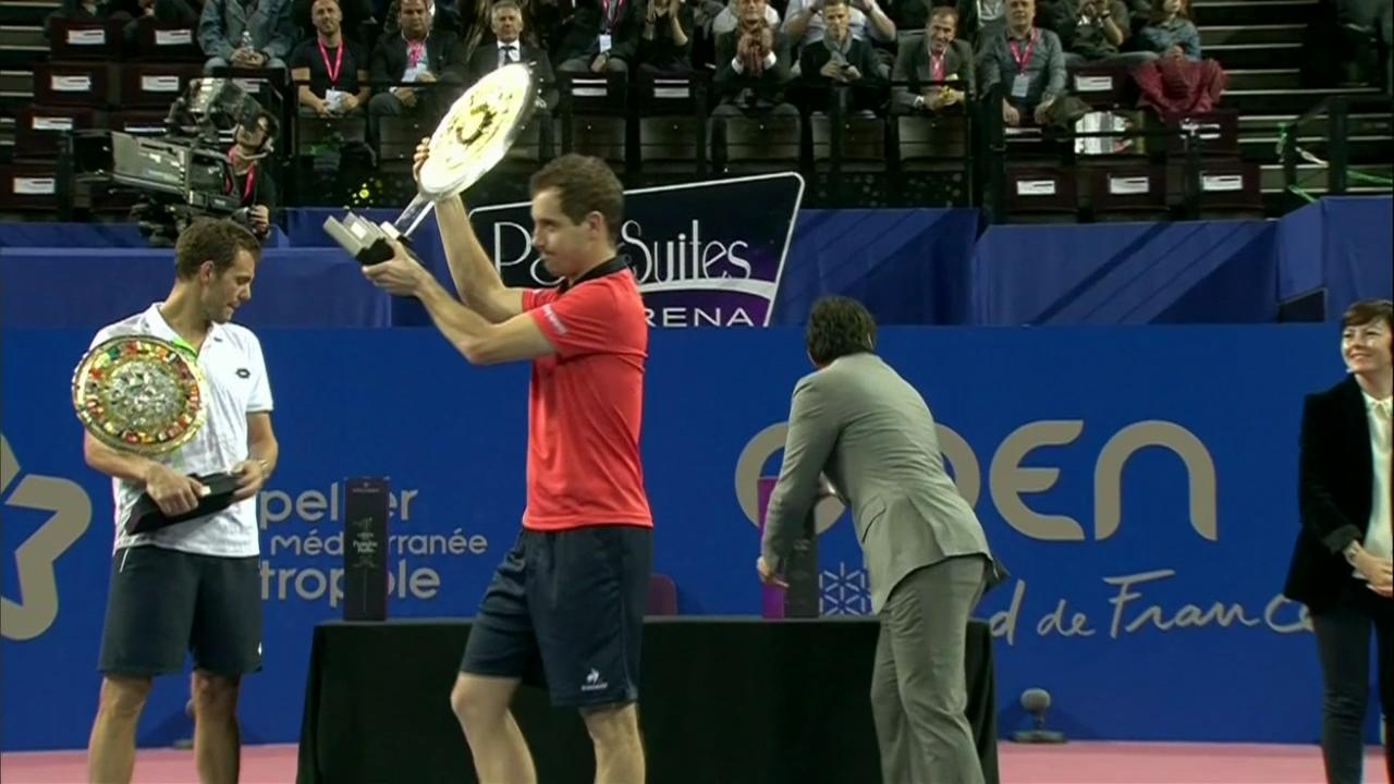 Richard Gasquet gets his first win on the tour.
