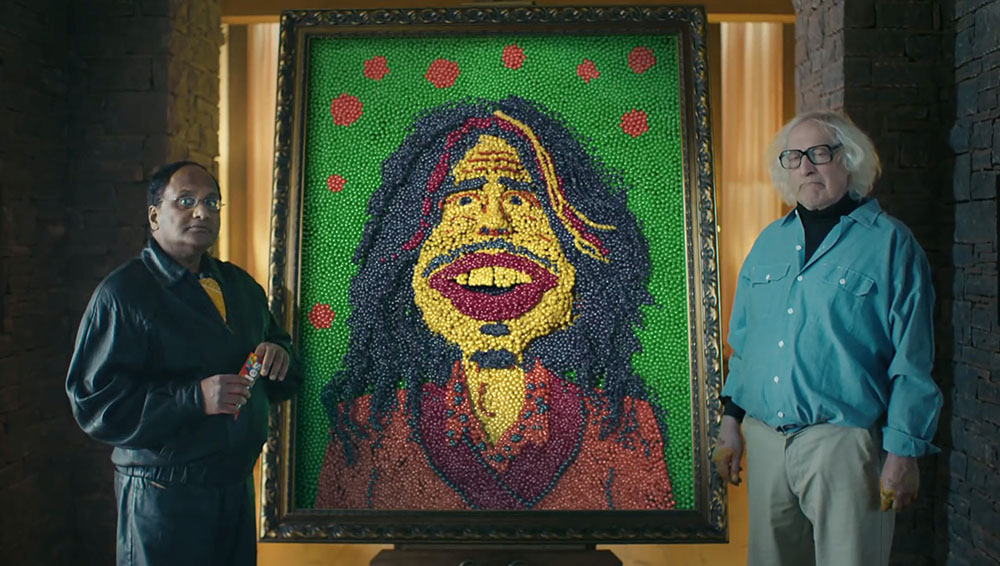 Skittles 'The Portrait' features Steven Tyler.