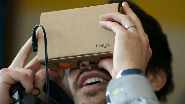 Google is working on a new VR headset that works with a smartphone like the Google Cardboard. It could be a competitor to the Samsung Gear VR. Video provided by Newsy