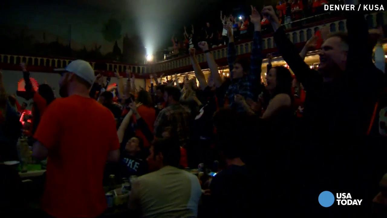 It's party time for Broncos fans who cheered on the team from back home in Denver.