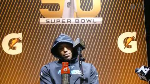 Cam Newton didn't say much to the media following the Panthers loss in Super Bowl 50.