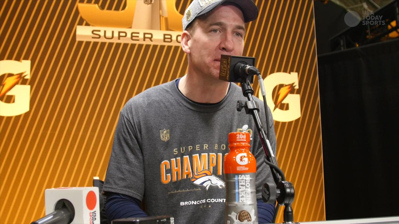 Peyton Manning speaks to the media about making history in Super Bowl 50 and his tenuous future in the NFL.