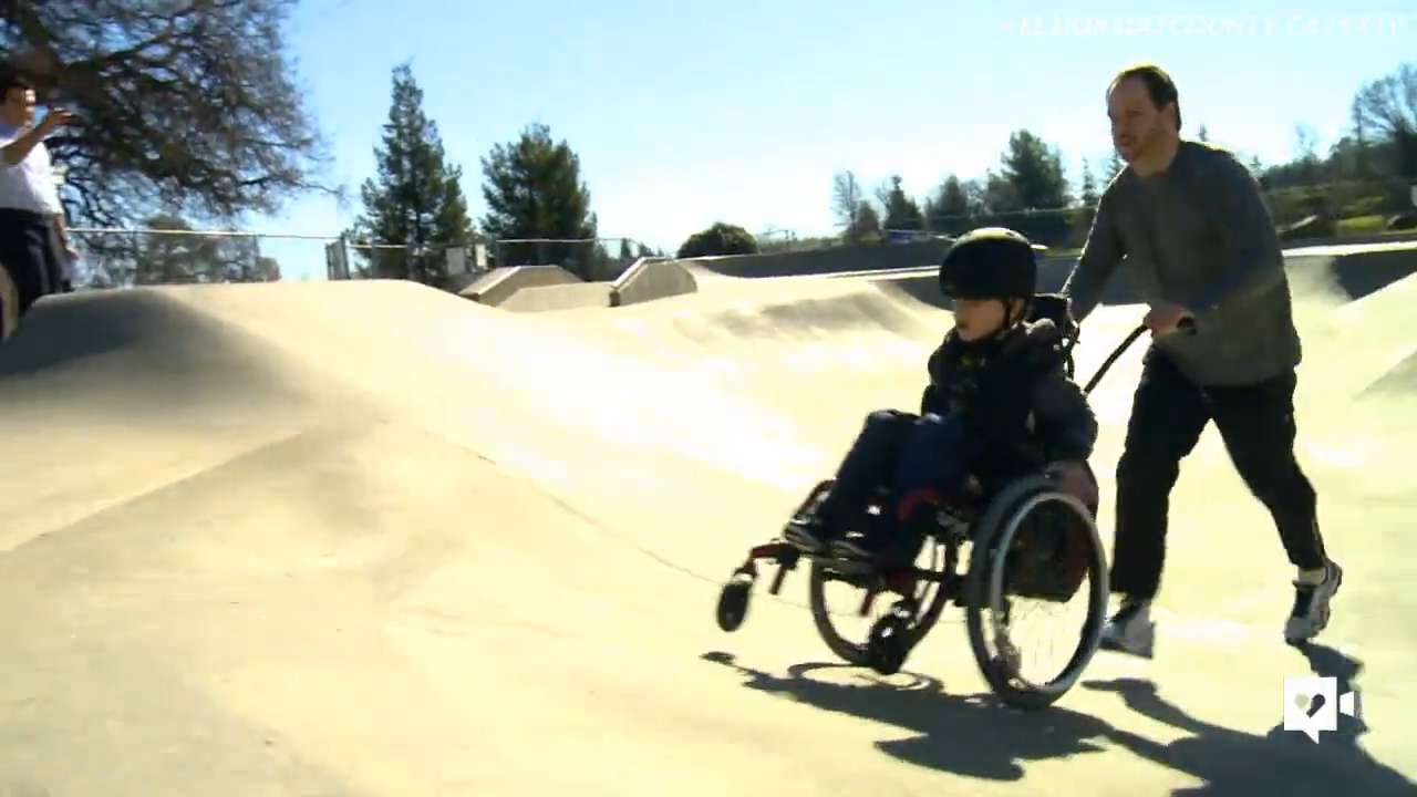This kid can really shred! With the help of his dad, Atticus Edmunds took on the ramps at a local skate park in his wheelchair. He won over kids at the park, the internet, and the world.