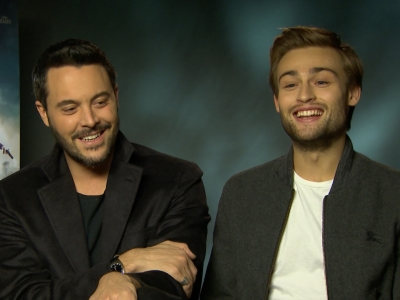 Stars of new genre mash-up 'Pride and Prejudice and Zombies,' Jack Huston and Douglas Booth, talk about etiquette lessons and spending their days around extras in zombie make-up. (Feb. 8)