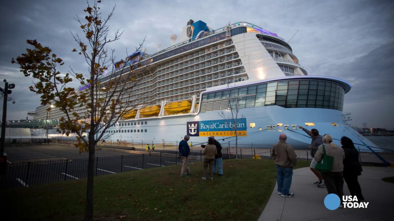 The Royal Caribbean's Anthem of the Sea ship suffered damage after experiencing hurricane-like winds in a storm during a cruise from New York to Florida.