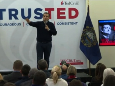 Republican Presidential Candidate Sen. Ted Cruz spoke in Barrington, New Hampshire Monday, saying he agrees with Bernie Sanders on the problem of inequality, but disagrees on how to fix it. (Feb. 8)