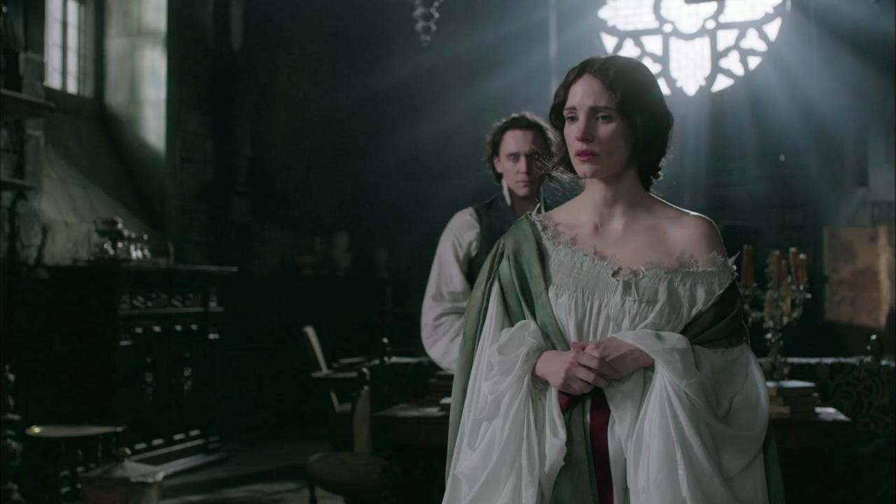 """Tom Hiddleston talks about his character Thomas Sharpe in the genre of gothic romance in an exclusive behind-the-scenes clip from """"Crimson Peak."""""""