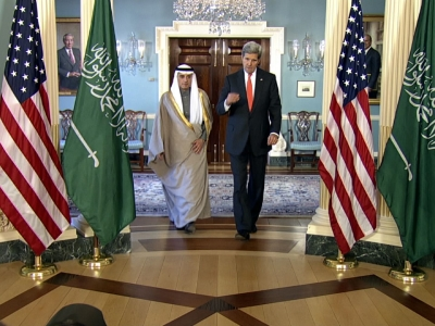 Saudi Arabia's Foreign Minister Adel al-Jubeir met with U.S. Secretary of State John Kerry in Washington where they discussed a number of critical problems facing the Middle East.  (Feb. 8)