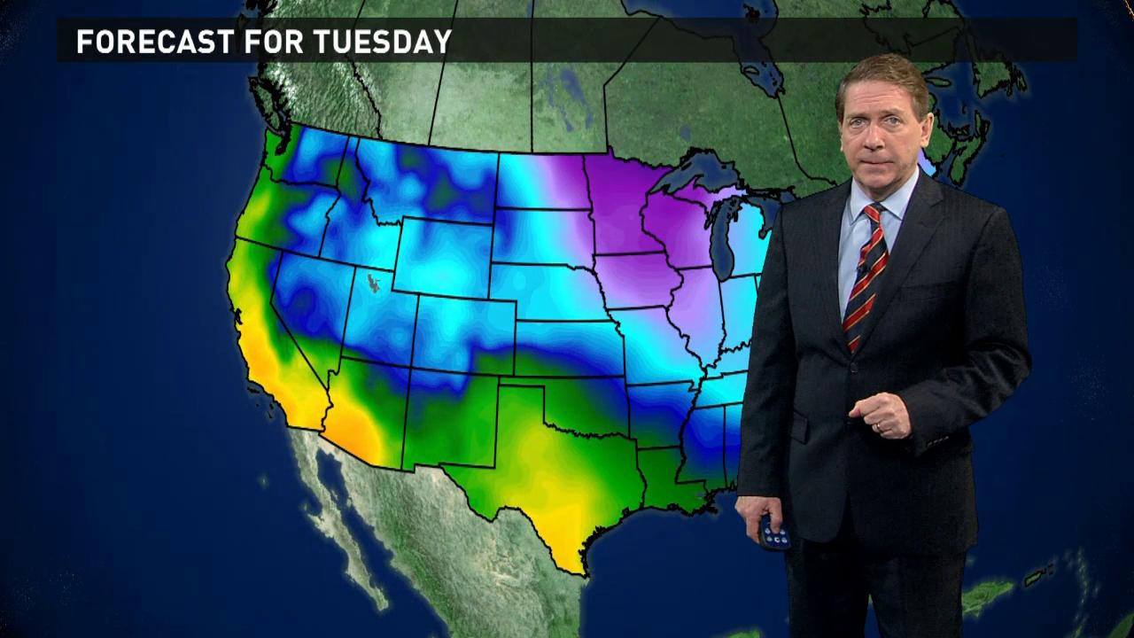 Tuesday's forecast: Snowy in the East