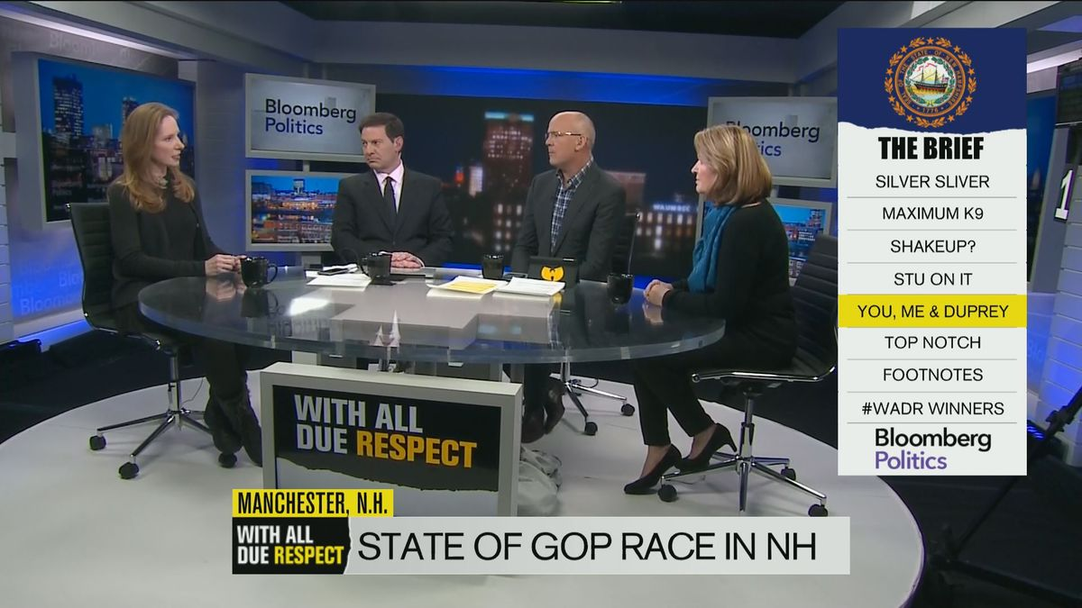 "Feb 8 -- Former John McCain and George W. Bush adviser Juleanna Glover and Marco Rubio supporter Susan Duprey discuss Donald Trump and the state of the Republican and Democratic races in New Hampshire on ""With All Due Respect."""