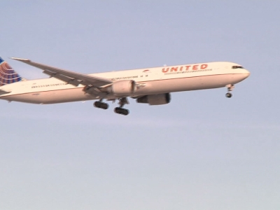 A triumphant Denver Broncos team arrived in Denver on a charted plane on Monday, a day after beating the Carolina Panthers 24-10 in the Super Bowl. (Feb. 8)