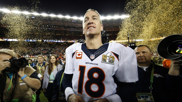 Why does Peyton Manning keep mentioning Budweiser?