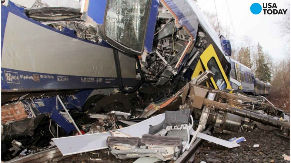 Several people were killed when two trains collided Tuesday morning near Bad Aibling, Germany, about 40 miles outside Munich.