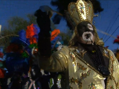 People gathered in New Orleans to kick off Fat Tuesday with the Krewe of Zulu parade put on by the Zulu Social Aid & Pleasure Club, a historically black organization in New Orleans. (Feb. 9)