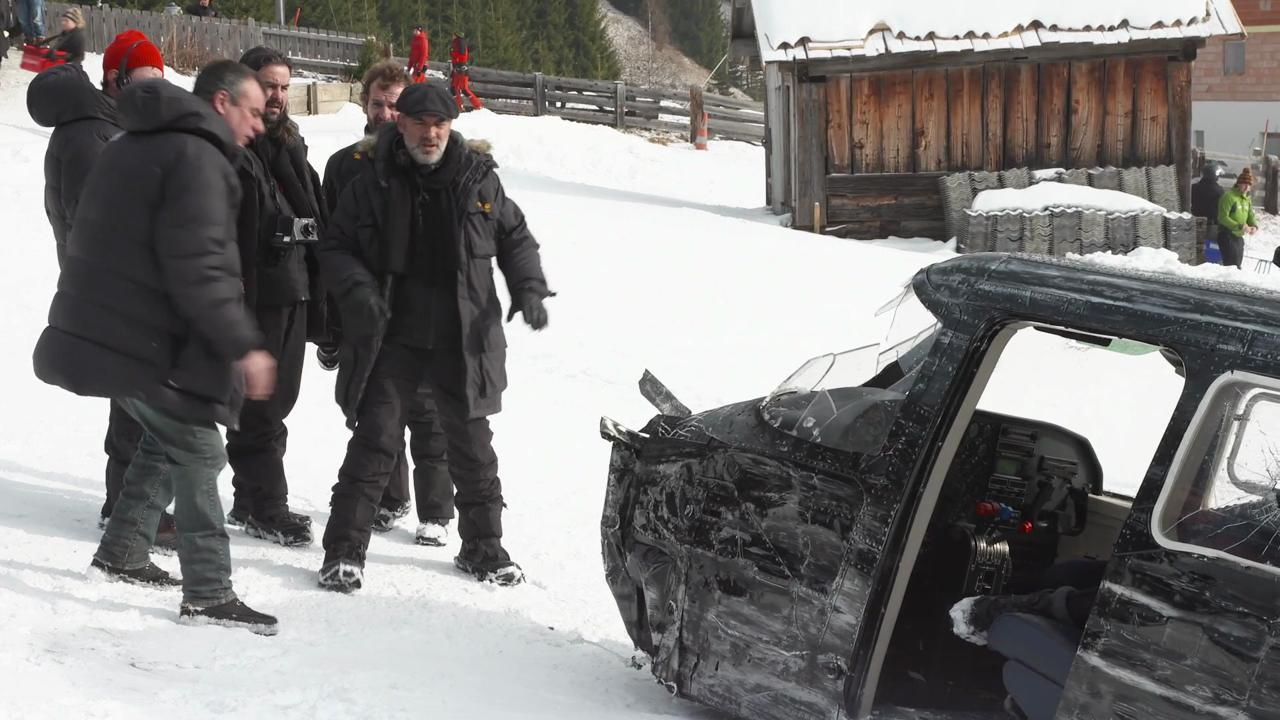 "Director Sam Mendes discusses filming action scenes in an exclusive behind-the-scenes clip from the James Bond movie ""Spectre."""