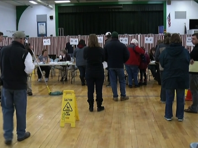 All eyes are on New Hampshire as voters cast their ballots in the first of the nation primary. (Feb. 9)