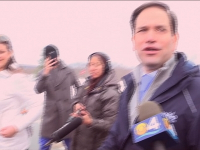 As voters continued casting ballots in New Hampshire's first in the nation primary Tuesday, Republican presidential candidate Marco Rubio greeted supporters outside a high school in Windham and said he felt good about the state of his campaign. (Feb