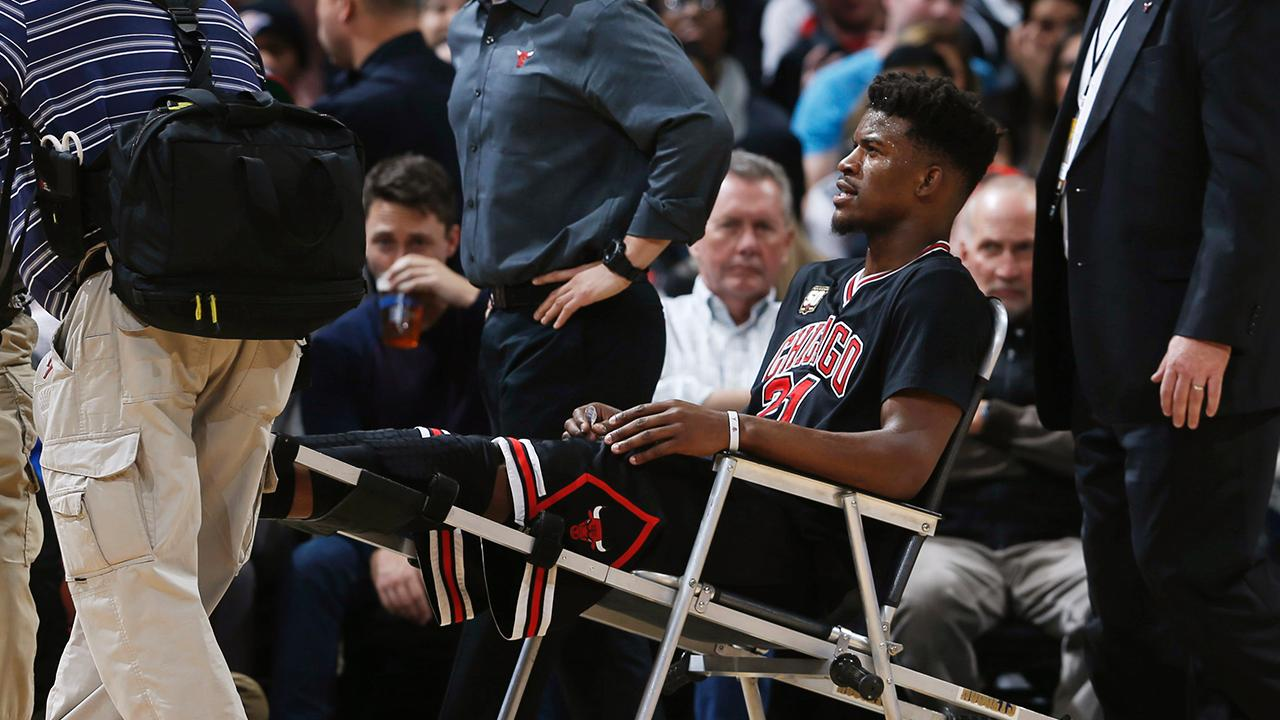 Bulls guard Jimmy Butler will miss the next 3-4 weeks with a strained left knee and will be replaced in this weekend's All-Star Game by Chicago teammate Pau Gasol.