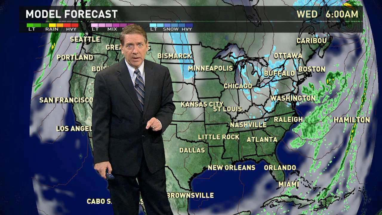 Wednesday's forecast: Still some snow in the East