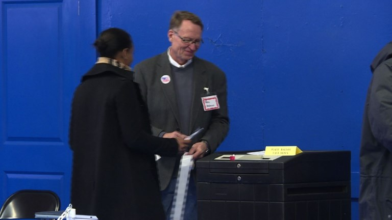 New Hampshire voters continued to head to the polls on Tuesday as the state's primary election gets under way. Video provided by AFP
