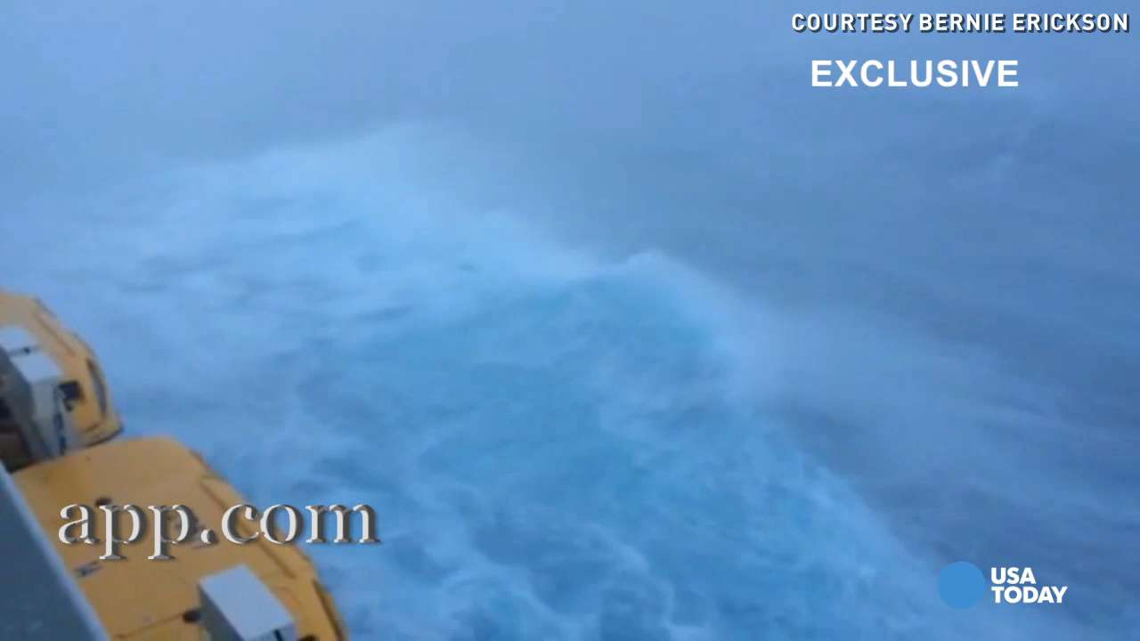 New video shows huge waves slamming into cruise ship