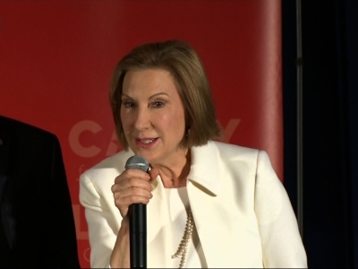 Republican presidential candidate Carly Fiorina spoke to supporters following the results of the New Hampshire primary on Tuesday and asked them to continue to stand with her. (Feb. 9)