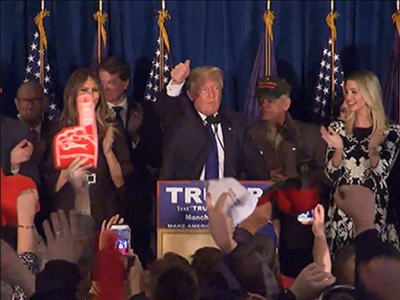 Supporters of Donald Trump cited several reasons why they voted for him, including that he's not part of the political establishment., Trump won the New Hampshire Republican Presidential primary by a wide margin. (Feb. 10)