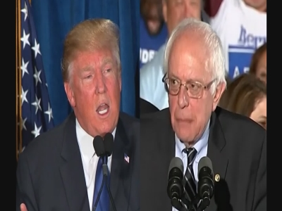 Republican Donald Trump and Democrat Bernie Sanders sweep to victory in New Hampshire primaries, adding credibility to their upstart candidacies. (Feb. 10)