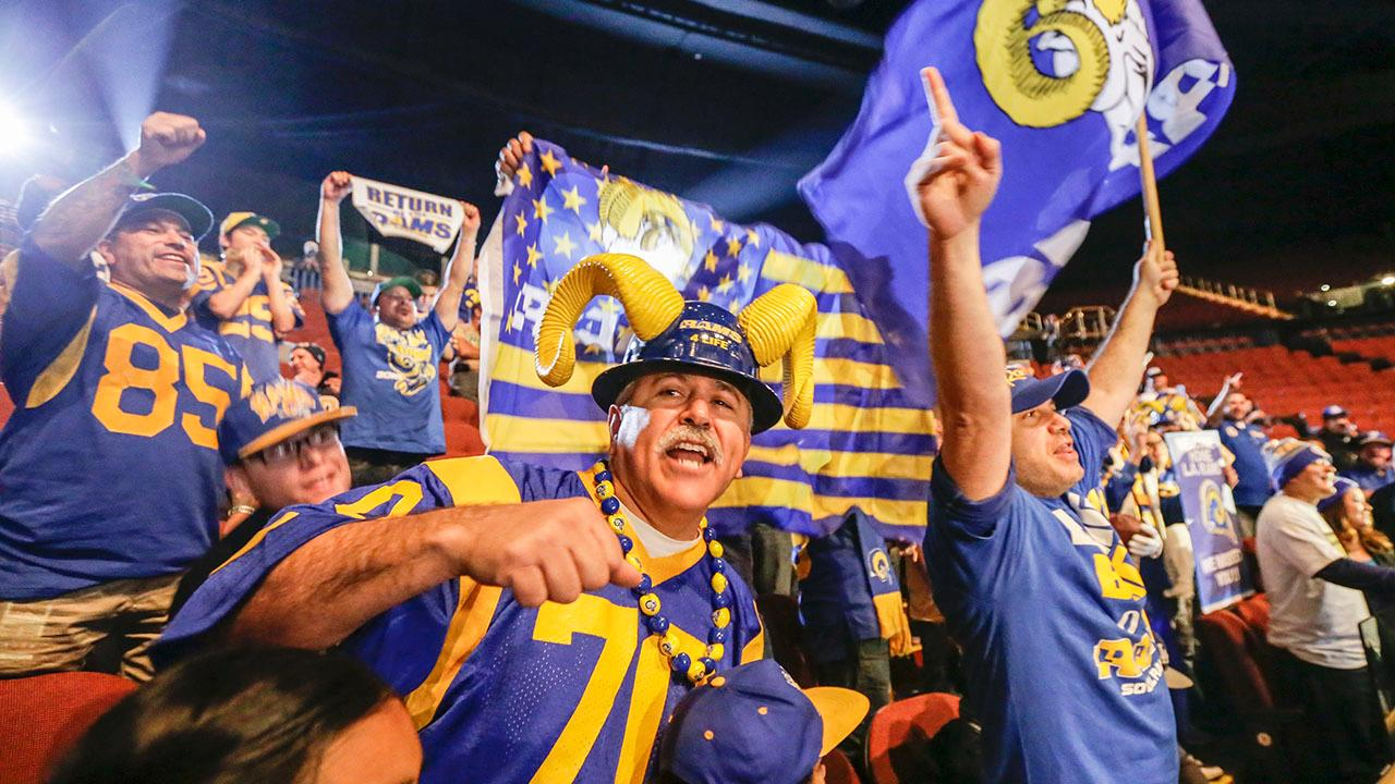 Los Angeles Rams fans placed more than 56,000 season ticket deposits for the team's first season back in Southern California since 1994, the Rams announced Tuesday.