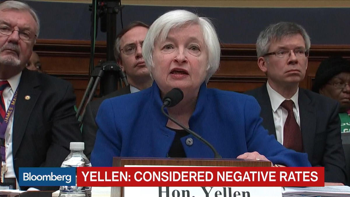Yellen: No known restriction preventing negative rate