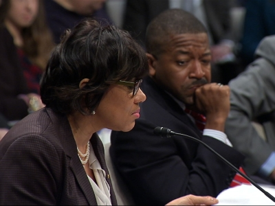 Testifying before Congress, the Mayor of Flint, Michigan said her city's democratic rights have been taken away since a governor-appointed emergency manager took over in response to the water crisis. (Feb. 10)