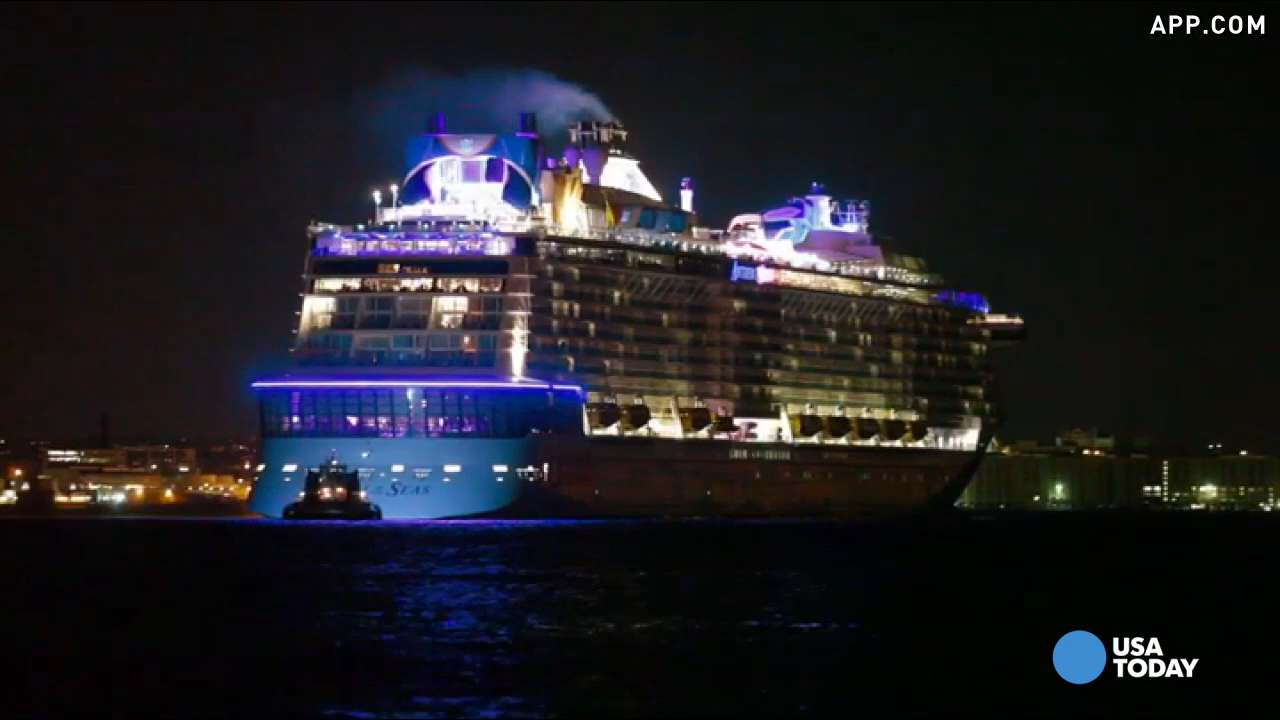 Raw video: Anthem of the Seas arrives in port