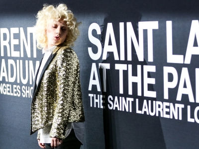 As the Saint Laurent fashion show hit Los Angeles, designer Hedi Slimane had no shortage of fans in the front row. Lady Gaga, Justin Bieber, Ellen DeGeneres, Pamela Anderson were just some of the stars showing their support. (Feb. 11)