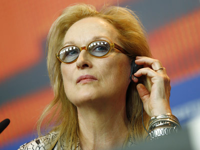 Jury president Meryl Streep hosts a press conference to launch this year's Berlin Film Festival. (Feb. 11)
