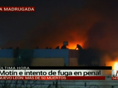 A fire and riot broke out Thursday at a prison in northern Mexico, and local media said numerous inmates appeared to have died. (Feb. 11)