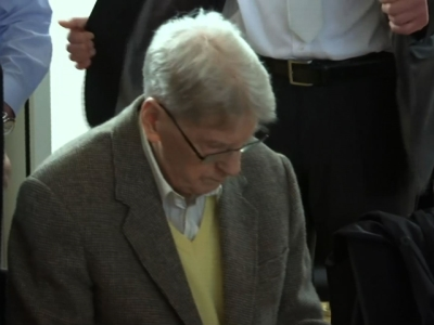 A 94-year-old former Auschwitz guard went on trial Thursday on 170,000 counts of accessory to murder in western Germany, accused of serving in the death camp at a time when hundreds of thousands of Hungarian Jews were gassed. (Feb. 11)