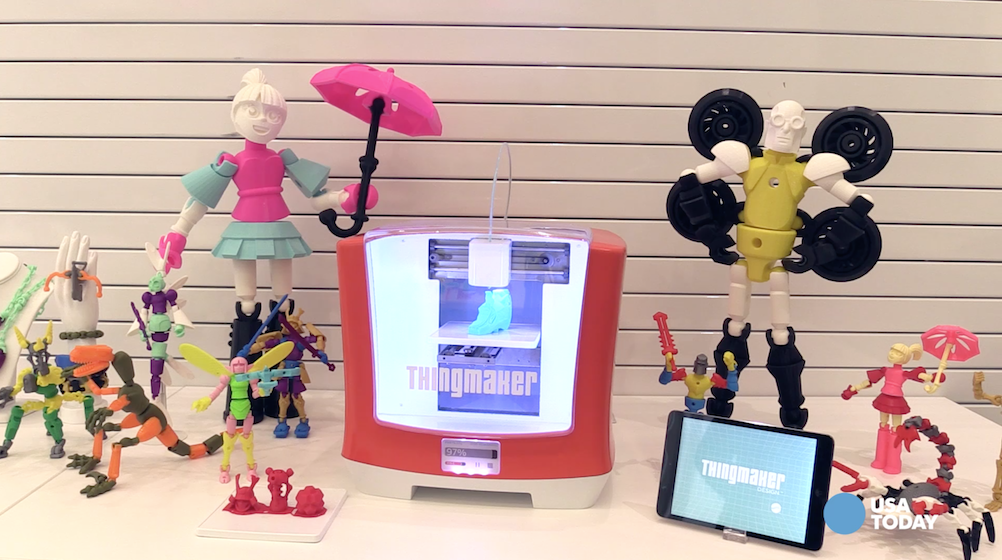 Mattel revealed the new reboot of the Thingmaker product as part of its push into 3D printing. Thingmaker, best known for Creepy Crawlers, will now be able to design and print toys at home.