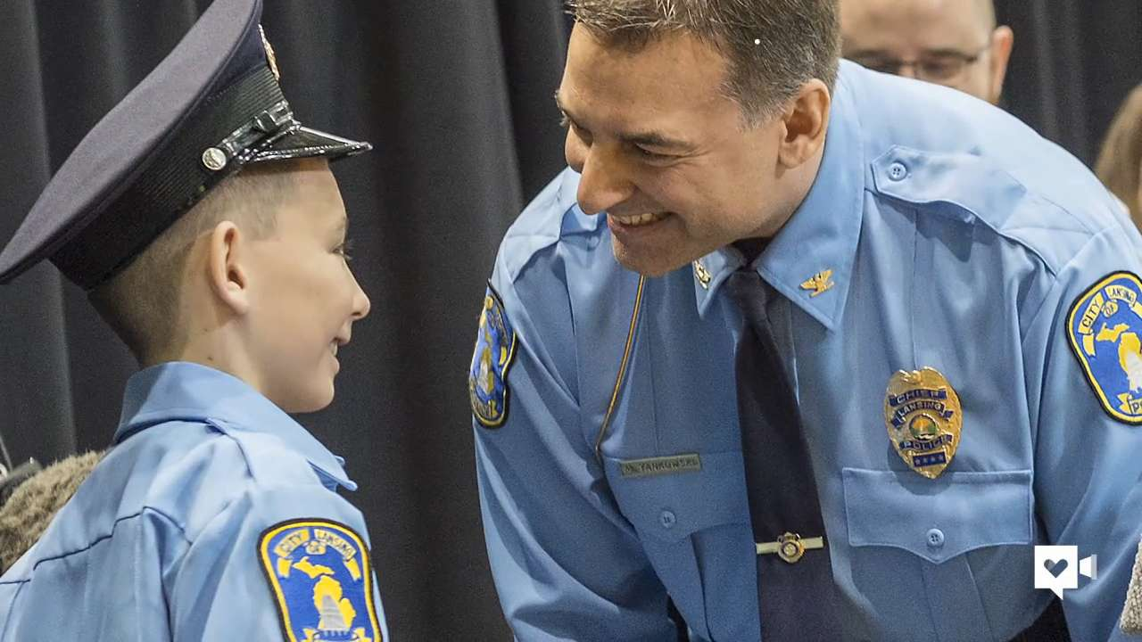 Boy forgoes b-day bash to throw police a party instead