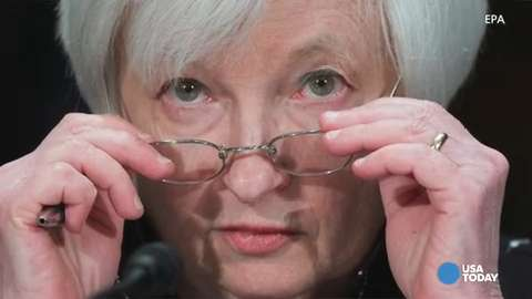 As stocks were plunging again Thursday, the Fed Chair was fielding questions from the senate banking committee.