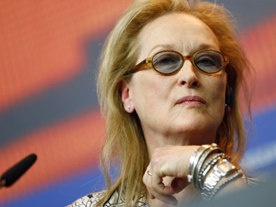 When asked about diversity in the movie industry at a press conference at the Berlin International Film Festival, Meryl Streep says 'We're all Africans, really.' (Feb. 11)